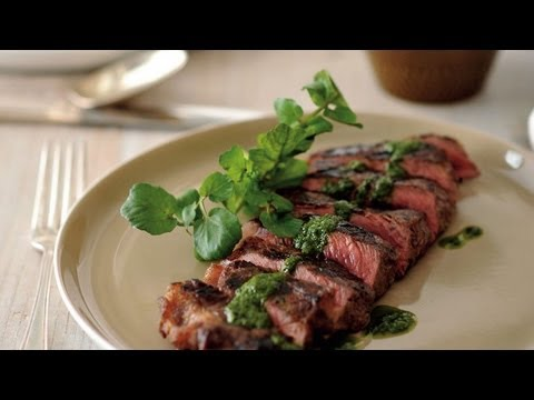Matt Moran - How To Cook BBQ Steaks With Chimichurri Sauce