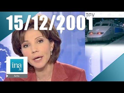 20h France 2 du 15 Décembre 2001 - Vague de froid sur la France   Archive INA