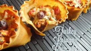Healthy Turkey Lasagna Cupcakes Recipe