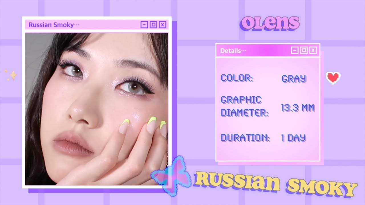 🍬Cotton Candy Makeup 솜사탕 메이크업 🍬OLENS Russian Smoky (Gray, Brown, Olive)
