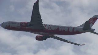エアアジア エックス a330 300 9m xaa 関西国際空港 飛行機 離陸 2014年8月13日