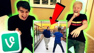 REACTING TO OUR SAM AND COLBY VINE COMPILATION!