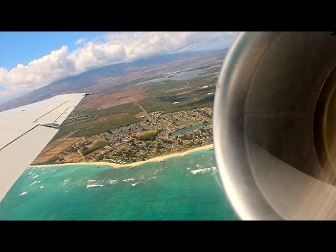 Hawaiian Airlines B717-200 Taxi & Takeoff from Honolulu | Engine View & Awesome Takeoff Roar