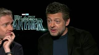 Black Panther - Itw Martin Freeman and Andy Serkis (Cam A) (official video)