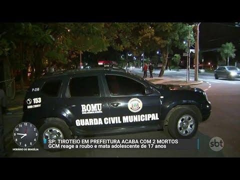 Tiroteio termina com a morte de Guarda Civil e menor de idade | Primeiro Impacto (08/11/17)