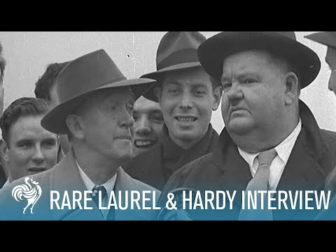 Laurel & Hardy: Rare Interview with an Iconic Comedy Duo (1947)   British Pathé