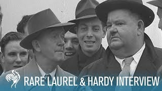 Laurel & Hardy: Rare Interview with an Iconic Comedy Duo (1947) | British Pathé