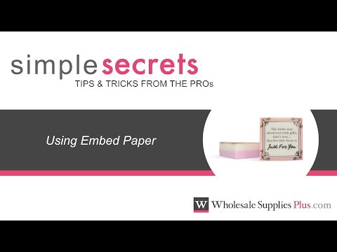 How to Use Embed Paper in MP Soap {Simple Secrets}