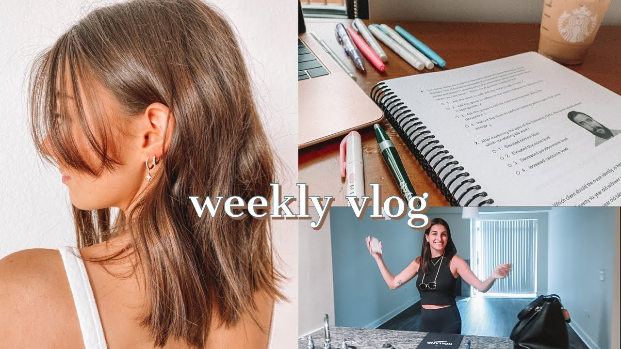 A WEEK IN THE LIFE OF A NURSING STUDENT | studying, helping my bff move, ana luisa haul & more!