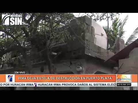 Irma deja estela de destrucción en Puerto Plata