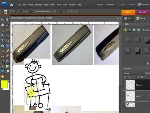 Drop Shadows Basics In Photoshop Elements