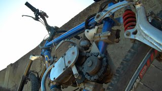 Full suspension motorized bike: GT LTS hill climbing