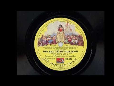 Adriana Caselotti  ' Whistle While You Work' Original 78 rpm