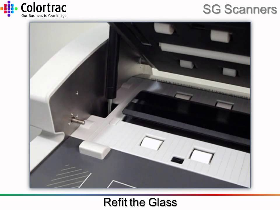 how to clean greasy scanner glass
