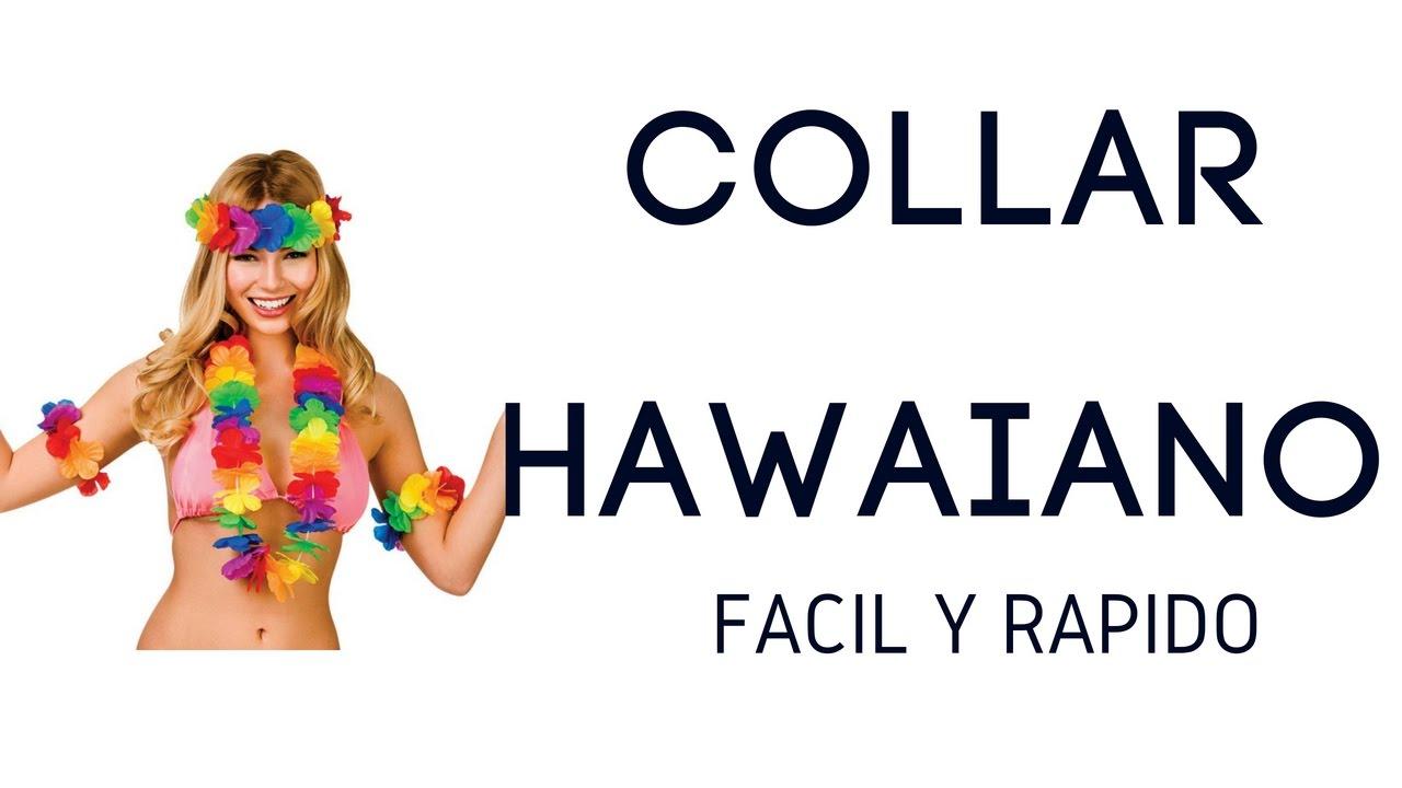 Sencillo collar Hawaiano para Fiestas - YouTube