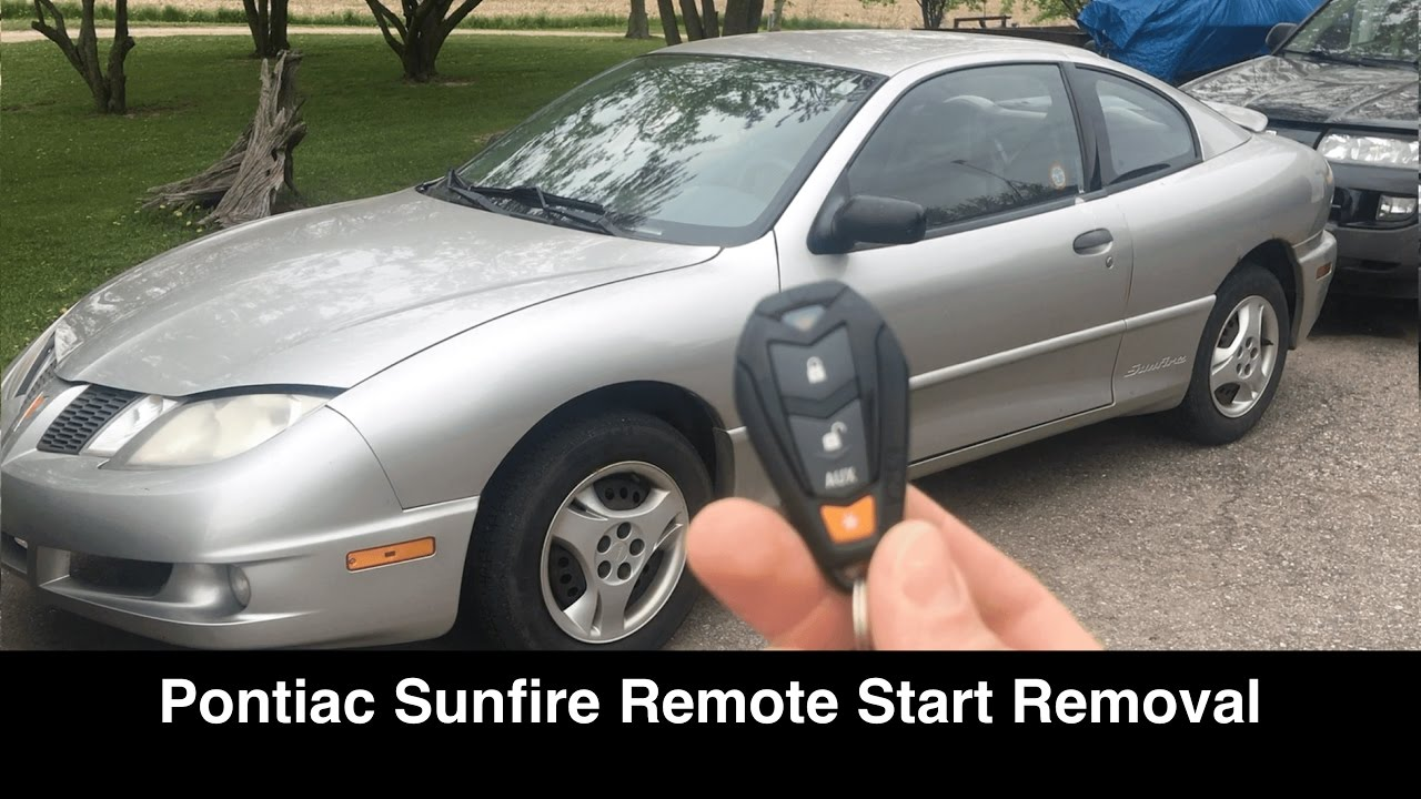 pontiac sunfire no start fix security remote start removal rh youtube com Pontiac G6 1997 Pontiac Sunfire