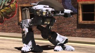 ED209, enforcement droid series 209 demonstration of Walk cycle built and rigged with 3DS Max 2016