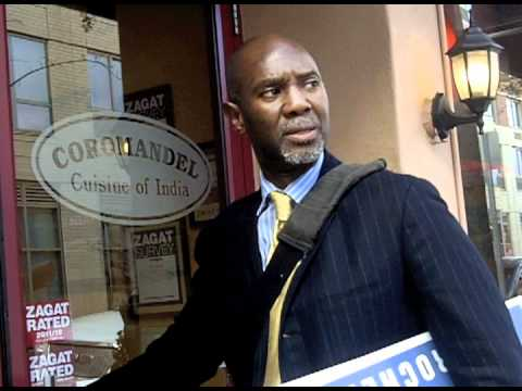 Visiting downtown Merchants Kevin Barrett (R-I) New Rochelle City Council Candidate 4 District #4