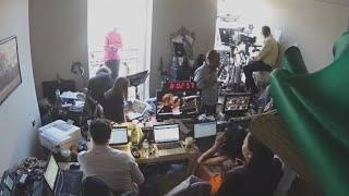 Timelapse: CBS News transforms hotel room into royal wedding studio