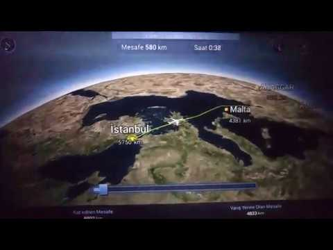 Turkish Airlines TK15 -  Istanbul to Sao Paulo Flight Route