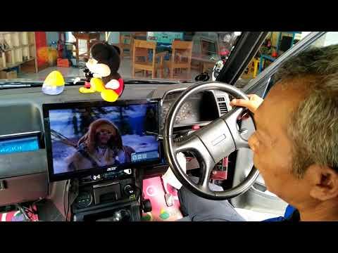 Modifikasi anti mainstream,, Pemasangan TV/ Layar LED 16 inch pada Mobil dengan dana minimal