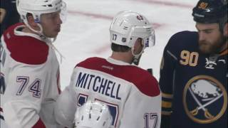 Mitchell takes Ristolainen shot off side of the face