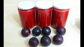Doğal konsantre erik meyve suyu nasıl yapılır-püf noktalarıyla ev yapımı-plum fruit juice