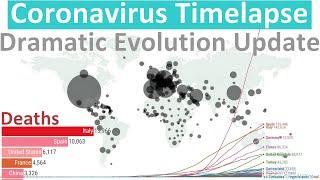 Coronavirus World Map Timelapse - How the virus spread (April update)