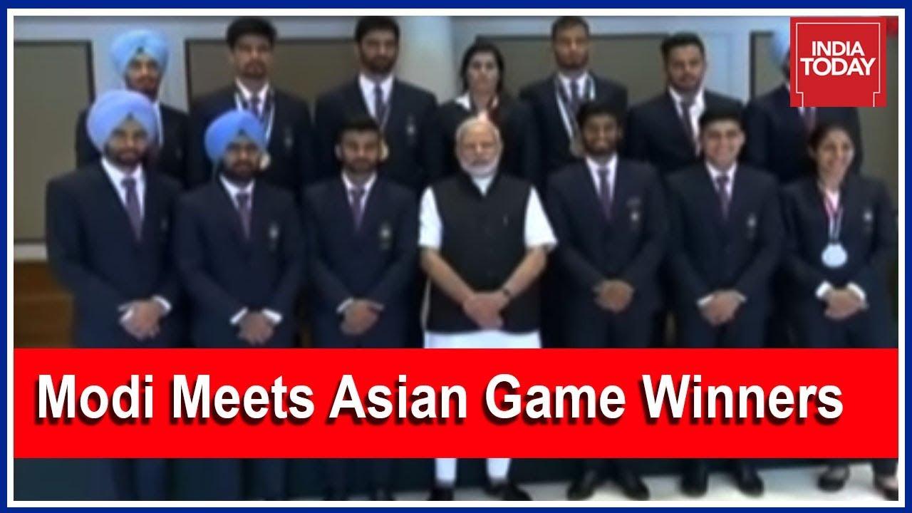 Breaking | PM Modi Addresses Asian Games Winners At Delhi Residence