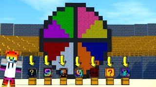 8 Farklı şans bloğu! Çarkıfelek Challenge - Minecraft Lucky Wars !