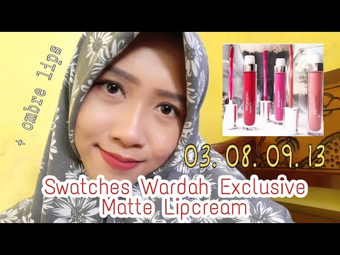 swatches-and-mini-review-wardah-exclusive-matte-lip-cream-no-3-8-9-13-|-|-yeni-krosita