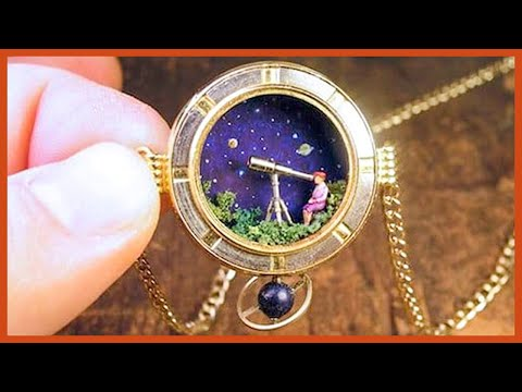 This Artist Turns Old Pocket Watches Into Miniature Worlds, And The Result Is Fascinating
