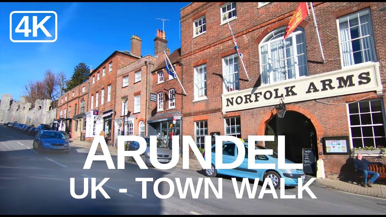 [4K] Virtual Walking Video of Arundel, England - British Market Town