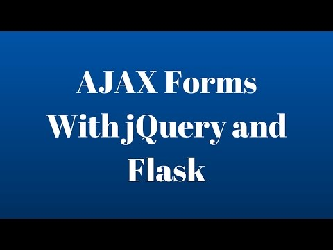 Submit AJAX Forms with jQuery and Flask