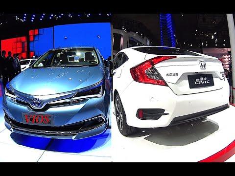 All new 2017, 2018 Toyota Vios VS 2016, 2017 Honda Civic, Video interior, exterior