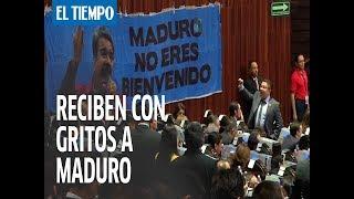 A gritos de 'Dictador' recibieron a Nicolás Maduro en posesión presidencial de México   EL TIEMPO