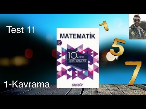 Karekök Yayınları, 10. Sınıf Matematik, Ünite 1, Kavrama Test-11