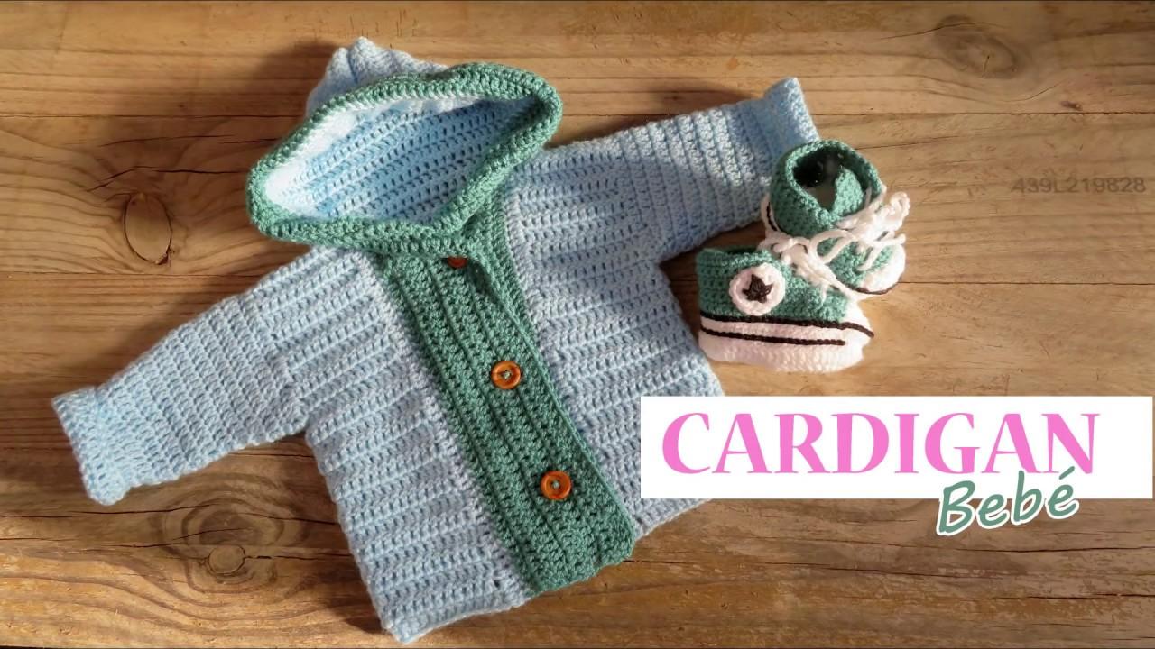 Cardigan o chaqueta para bebé a crochet 12