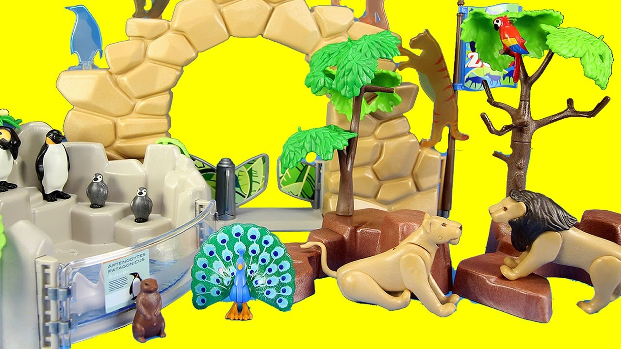 Playmobil City Life Large Zoo Toy Wild Animals Building