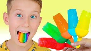 무지개 과일 아이스크림 만드는 법동기 Funny Alex is cooking fruit ice cream + more kids videos