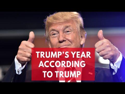 Trump's year according to Trump