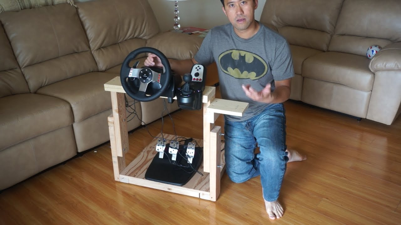How To Make The Best Homemade Logitech G27 Gaming Wheel Stand In World You