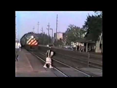 Woman Walks into Speeding Train