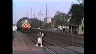 Woman Walks into Speeding Train