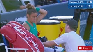 Maria Sakkari Executes Her Coach's plan to perfection out of time outs.