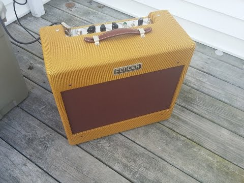 Fender Tweed Deluxe 5b3 replica - Full Volume Porch Test