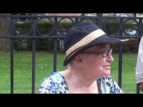"NO SEPARATE JUSTICE vigil w LYNNE STEWART ""WE'RE GOING TO SEE MORE POLITICAL PRISONERS"" 8/3/15"