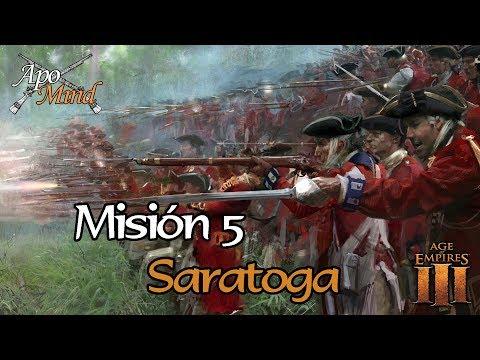 Difícil Misión 5 Saratoga - Acto I Fuego - Age of Empires III The Warchiefs