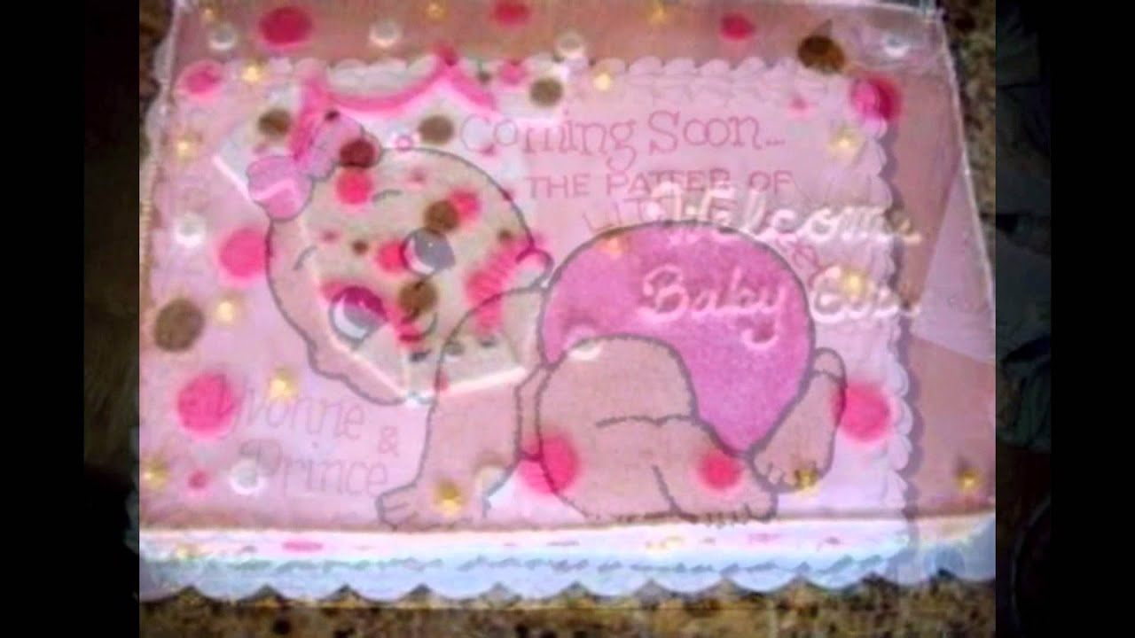 baby shower sheet cakes - YouTube