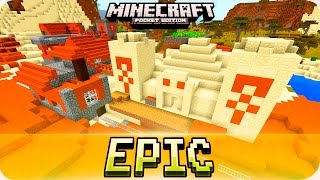 Minecraft PE Seeds - WHAT?! Dungeon, Village with Temple and Gold Mines! MCPE 1.0.0 / 1.0
